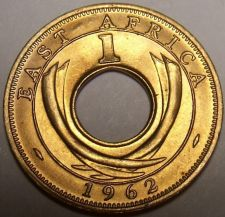 Buy Gem Uncirculated East Africa 1962-H Cent~Hole In Center~Free Shipping