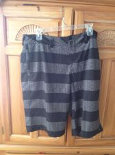 Buy Mens Quiksilver board shorts size 34 striped with anchor motif