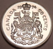 Buy Canada 1974 Proof 50 Cents~Read Why Proofs Are The Best Coins~Free Shipping