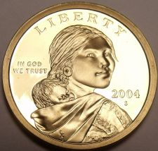Buy United States 2004-S Sacagawea Cameo Proof Dollar~Free Shipping