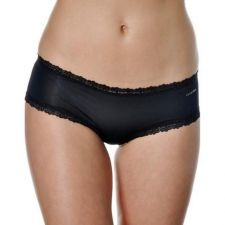 Buy X304 Calvin Klein NEW D3027 Black Ultra Low Rise Lace Opening Microfiber Hipster