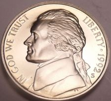 Buy United States Cameo Proof 1992-S Jefferson Nickel~Free Shipping
