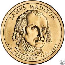 Buy UNC JOHN MADISON 2007-P PRESIDENTIAL DOLLAR~FREE SHIP