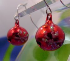 Buy Hook Earrings : Holiday Party Christmas Tree Ornaments - Snow Flakes on a Bell