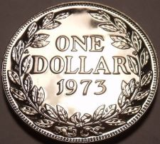 Buy Rare Proof Liberia 1973 Dollar~Only 11,000 Minted~We Have Low Mintage Coins~F/S