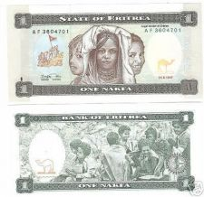 Buy UNC AFRICAN STATE OF ERITREA 1 NAFKA NOTE~FREE SHIPPING