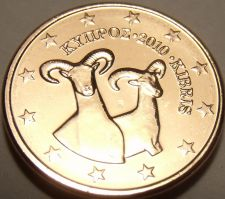 Buy Gem Unc Cyprus 2010 1 Euro Cent~Double Rams~We Have unc Coins~Free Shipping