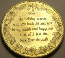 Buy Gem Unc 38.6mm Holiday Season Very Detailed Medallion~Fantastic~Free Shipping