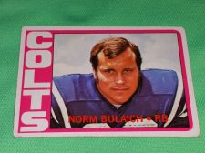 Buy VINTAGE NORM BULAICH COLTS 1972 TOPPS FOOTBALL GD-VG