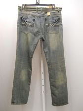 Buy Mens Jeans SIZE 40X32 FUSAI Acid Wash Comfort Slim Fit Straight Leg 100% Cotton
