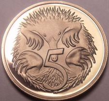 Buy Cameo Proof Australia 1986 5 Cents~Echidna~67,000 Minted~We Have Australian~F/S