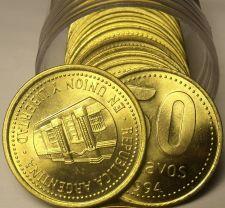 Buy Gem Unc Roll (20) Argentina 1994 50 Centavos~Capital Building~Free Shipping