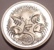 Buy Cameo Proof Australia 1981 5 Cents~Short-Beaked Spiney Ant-Eater~Free Shipping
