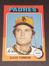 Buy VINTAGE DAVE TOMLIN PADRES 1975 TOPPS #578 GD-VG