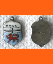 Buy BONN Enamel & Sterling Silver Travel Shield Souvenir Charm