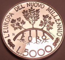 Buy Silver Proof San Marino 1998-R 5000 Lire~I Leave You Free~Ivy Olive Oak Trees~FS