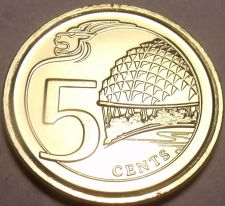 Buy Gem Unc Singapore 2013 5 Cents~Multiply~Theaters On The Bay~Canadian Minted~Fr/S