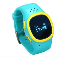 Buy Blue Kid Child Soft Wrist band Dual GPS GSM Position Tracker Anti lost Watch SOS