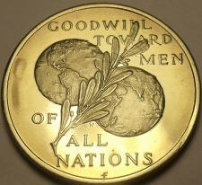 Buy Franklin Mint 39.5mm Peace On Earth Goodwill Tword Men~All Nations~Medallion~F/S