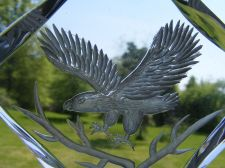 Buy ****L@@K **** FLYING EAGLE LUCITE ETCHED PAPER WEIGHT