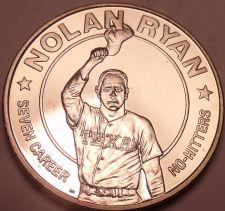 Buy Gem Brilliant Unc Liberia 1993 Dollar ~Nolan Ryan 7 Career No Hitters~Free Ship