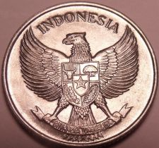 Buy Large Gem Unc Indonesia 1957 25 Sen~Incredible Eagle~Free Shipping