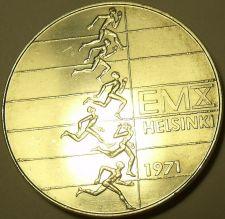 Buy Massive Unc Silver Finland 1971 10 Markkaa~European Athletic Championships~Fr/Sh