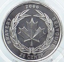 Buy CANADA 2006 BRAVERY 25 CENTS GEM UNCIRCULATED~FREE SHIP