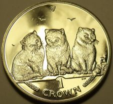 Buy Choice Gem Unc Isle Of Man 2006 Crown~Exotic Short Hair Cats~Excellent~Free Ship