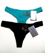 Buy A0194 Dereon by Beyonce NEW Golden Nugget Logo All Stretch Cotton Thong D3642 PR