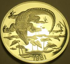 Buy Extremely Rare Silver Proof Jamaica 1981 $10.00~3,216 Minted~Crocodile~Free Ship