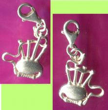 Buy Vintage Scottish Musical Bagpipes Charm MG STERLING 925 Silver