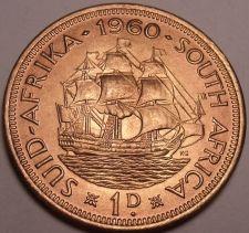 Buy Large Gem Unc South Africa 1960 Penny~Last Year Ever Made~Dromedaris~Free Ship
