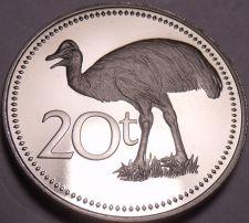 Buy Rare Cameo Proof Papua New Guinea 1981 20 Toea~Bennett's Cassowary~10k Minted~FS