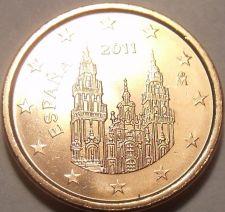 Buy Gem Unc Spain 2011 1 Euro Cent~Cathedral Of Santiago De Compostela~Free Shipping