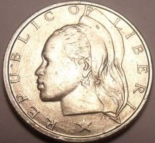 Buy Unc Silver Liberia 1960 10 Cents~1st Year Ever This Type~Free Shipping