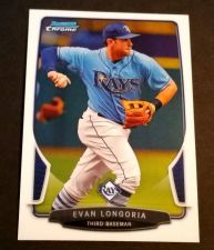 Buy MLB EVAN LONGORIA RAYS SUPERSTAR 2013 BOWMAN CHROME #149 MNT