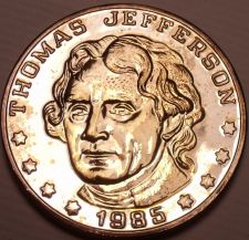 Buy Historic Mint Double Eagle Thomas Jefferson Commemorative Medallion~Free Ship