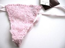 Buy A400 Donna Loren Bridal Collection Picot Rose Garden Sheer Mesh G-String Pink S New