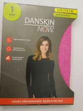 Buy Danskin Now Pink Performance Baselayer Tagless Brushed Crew Neck Top L 12-14