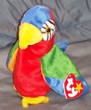 Buy RETRO ORIGINAL TY BEANIE BABY PLUSH JABBER PARROT COLLECTIBLE NICE