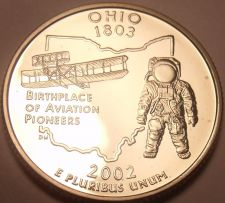 Buy PROOF CAMEO 2002-S OHIO STATE QUARTER ~NICE~FREE SHIP~