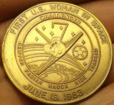 Buy Challanger STS-7 Mission Medallion~1st U.S. Woman In Space Sally Ride~Free Ship
