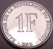 Buy Gem Unc Burundi 1993-PM 1 Franc~Last Year Ever Minted~Free Shipping