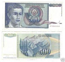 Buy YUGOSLAVIA 1990 500 DINARA HIGH DENOMINATION~FREE SHIP~