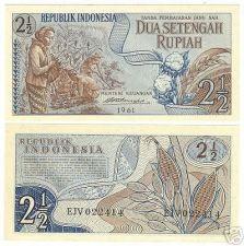 Buy INDONESIA 1961 2 1/2 RUPIAH<CRISP FARMING NOTE>FREE SHI