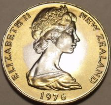 Buy Massive Unc New Zealand 1976 Dollar~Only 36,000 Minted~Free Shipping~