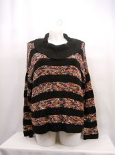 Buy US Sweaters Womens Sweater Size XL Multi Color Striped Long Sleeves Cowl neck
