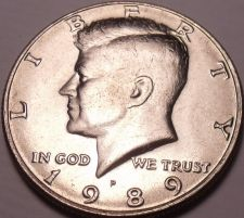 Buy United States Unc 1989-D Kennedy Half Dollar~Free Shipping