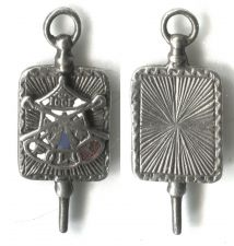 Buy Vintage Masonic Silver & Enamel Good Fellows Watch Fob Charm